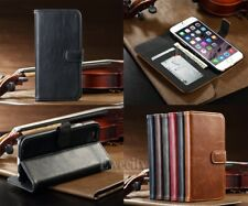Flip Wallet PU Leather Stand Photo Slot Case Cover For Apple iPhone 5 6 6S /Plus