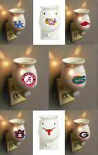 NCAA PLUG IN WARMER USE WITH SCENTSY YANKEE WOODWICK -PICK YOUR TEAM - FREE WAX