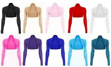 Womens Long Sleeve Bolero Shrug Sweater Jacket Top US Size: 6-24