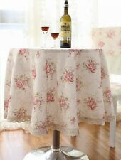 """90"""" Round Vintage Flower Table Cloth Table Cover For Kitchen 003"""