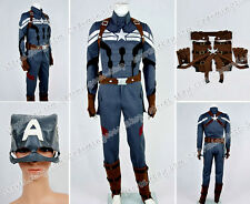 Captain America 2: The Winter Soldier Cosplay Costume Military Uniform Full Set