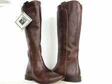 Women's Frye Paige Tall Riding Boots - Cognac Calf Leather - 3477535