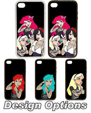Tattooed Disney Princesses Rubber and Plastic Phone Cover Case