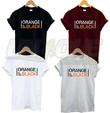 ORANGE IS THE NEW BLACK T SHIRT TOP TEE TSHIRT COMEDY TV FUNNY SLOGAN HIPSTER