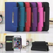 Flip Handy Wrist Strap Wallet Purse PU Leather Case Cover For iPhone 6 6S / Plus