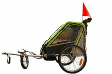 New Beautiful Time Baby Bicycle Bike Trailer & Stroller 2 in 1 for 1 to 2 Babies