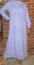 """Nightgown Long Waffle Knit Lavender - Wonderful Price """"Made in USA"""""""