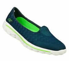 """New! Women's Skechers GoWalk 2- """"Axis"""" Athletic/Fashion Slip-on shoes Navy Blue"""