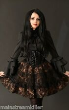 Rock Skirt Dracula Clothing Brocade Gothic CanCan Victorian Steampunk Wild West