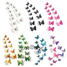 12PCS 3D Butterfly Design Art Decal Wall Stickers Home Decor Room Decorations