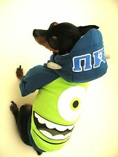 Small dog clothes Monsters University Chihuahua coat outfit Halloween XS, S, M