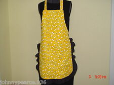 NEW Handmade Granny Full Aprons Vintage Retro Pattern W/Pockets Eyelet Lace Trim