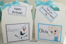 Personalised Childrens Wedding Birthday Xmas Activity Pack Box Bag Favour FROZEN