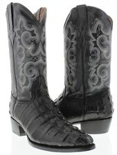 Mens black alligator ostrich lizard python exotic leather western cowboy boots