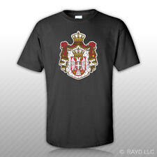 Serbian Coat of Arms T-Shirt Tee Shirt Free Sticker Serbian flag SRB RS