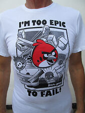 MENS ANGRY BIRD I'M TO EPIC TO FAIL T - SHIRT SIZES SMALL TO XXL 100% COTTON
