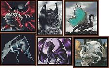 6 DRAGONS Cross Stitch Charts ( Patterns ) *CD Delivery*