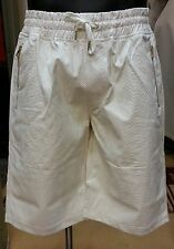 Makobi Faux Leather Snake Print White Shorts Large-3XL