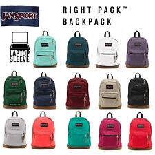 NEW JANSPORT RIGHT PACK LEATHER SUEDE BOTTOM ORIGINAL BACKPACK