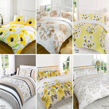 Duvet Quilt Cover Bedding Set Yellow Single Double King Kingsize Super King