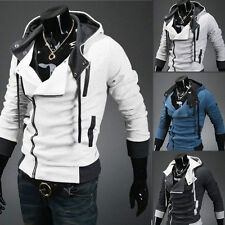 Mens Assassin's Creed 7 Slim Fit Hoodies Sweats Costume Coat Jacket Cosplay New