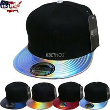 Fashion Hologram Shine Print Hiphop Cap Snapback Baseball Adjustable Hat Unisex