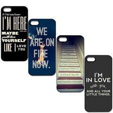 For i Phone 5/5S Best New Design One Direction Quotes Hard Case Cover