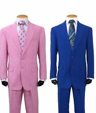 New Men's 2  Button Basic Polyster Suit's by Milano Moda Many Colors 702-P