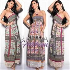 NEW SEXY MAXI DRESS 6 8 10 12 14 LONG SUMMER DRESSES XS S M L XL print sundress