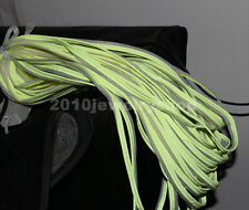 Green Reflective Piping Fabric Strip Edging Braid Trim Sew On Wide 10mm