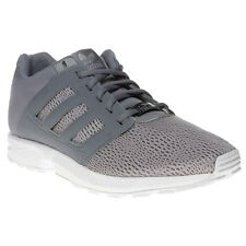 New Mens adidas Grey Zx Flux 2.0 Nylon Trainers Retro Lace Up