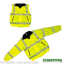 Insulated Hi-Vis Class 3 Safety Jacket Reflective Winter Coat Sizes: XL