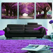 3 Pcs Wall Art Tree Road Abstract Oil Painting Picture On Beautiful Canvas Print