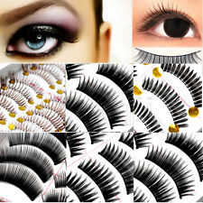 1 set 10pairs Makeup Tool False Eyelash Fake Eye Lashes Handmade 10 Options MA