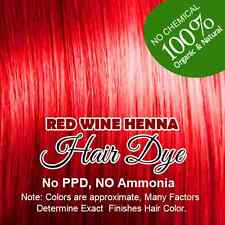 Red Wine Henna Hair Dye – Color Hair Naturally With Vibrant Red Wine Henna