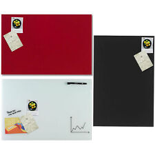Naga 60x40cm Wall Mountable Magnetic Glass Board/Write on/Wipe off/Marker/magnet