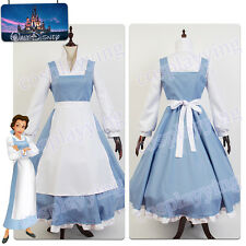 Beauty And The Beast COSplay Costume Apron Suit Belle Maid Dress Outfit Full Set
