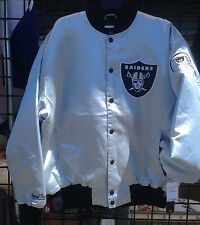 Oakland Raiders Silver Jacket by GIII - Raiders Silver SATIN JACKET