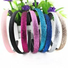 Women's Fashion Glitter Powder Covered Leather Plastic Headband Hair Accessories