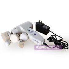Portable 5 in1 Rotary Brush Skin Facial Machine Massager Deep Cleanser Scrubber