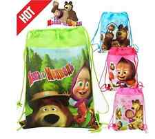 Children's Kids Masha and the Bear Backpack/Shoe Bag