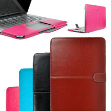 Snap-on PU Leather Laptop Cover Notebook Sleeve Case Bag For Macbook Air 11.6""