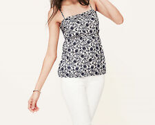 Ann Taylor LOFT Floral Empire Cami Top Various Sizes NWT Perfect Navy Color