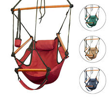 Hammock Hanging Chair Air Deluxe Sky Swing Outdoor/Indoor Chair Solid Wood 250lb