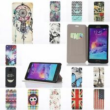 Ultra Thin PU Leather Flip Card Holder Case Cover For Samsung Galaxy Note 4 IV