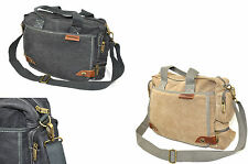 Canvas Shoulder Messenger Bag Versatile Use leather and Quality Fittings