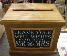 Wooden Wishing Well, Wedding Card Box, Assort Sayings Handmade, Engagement New
