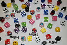 Fiat All Models Dice EYE Ball Union Jack Grenades Valve Caps Dust Cap Dusties