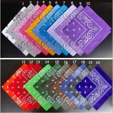 Hot!Wholesale Lot 100% Cotton Paisley Bandanas double sided head wrap scarf H5