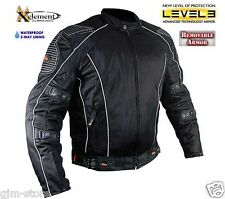 New Xelement Mens CF5000 All Year 3-way liner level-3 Armored Motorcycle Jacket